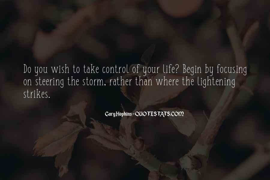 Take Control Of Your Own Life Quotes #34666