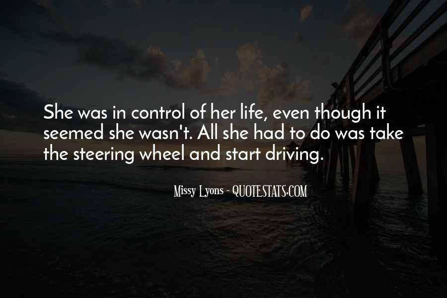 Take Control Of Your Own Life Quotes #619638
