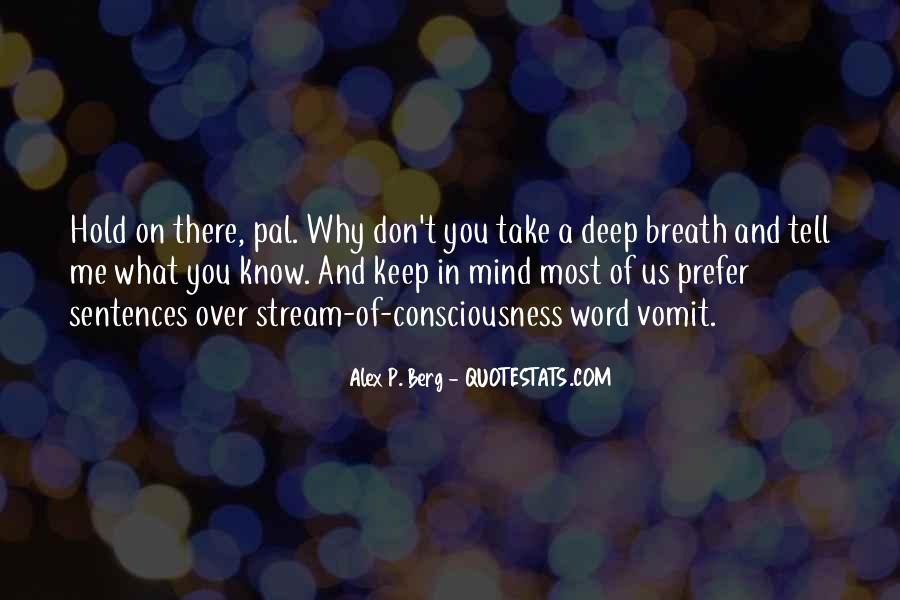 Take Deep Breath Quotes #1337838