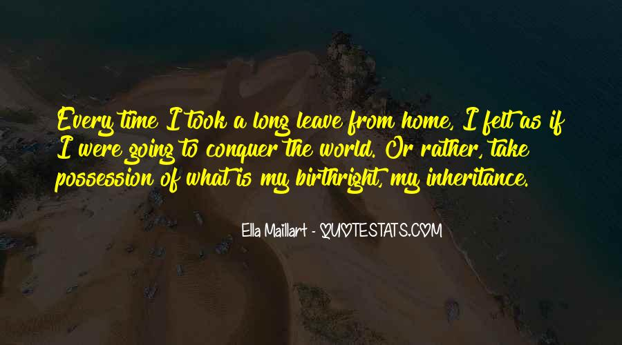 Take The Long Way Home Quotes #1074414