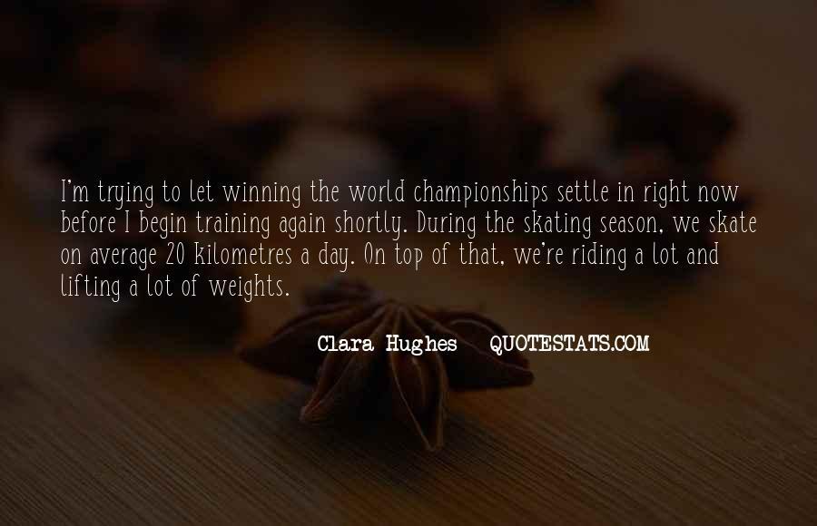 Quotes About Clara Hughes #479492