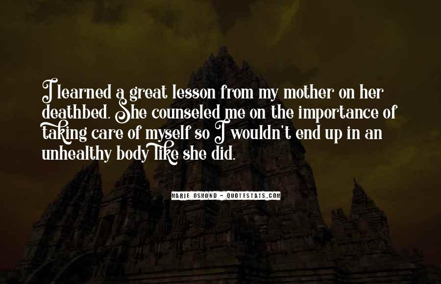 Taking Care Myself Quotes #1045455