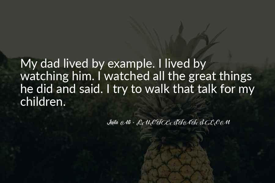 Talk The Walk Quotes #956516