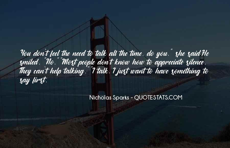 Talk To Her First Quotes #105778