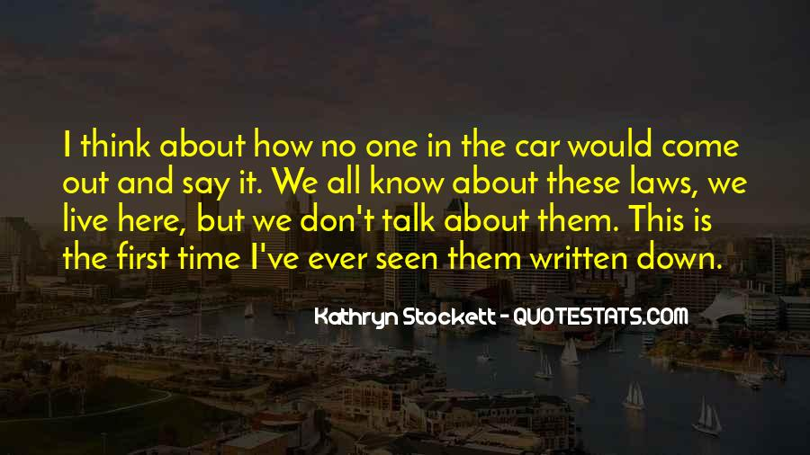 Talk To Her First Quotes #21347