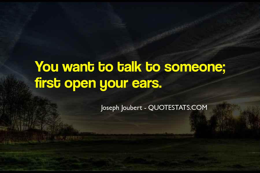 Talk To Her First Quotes #41163