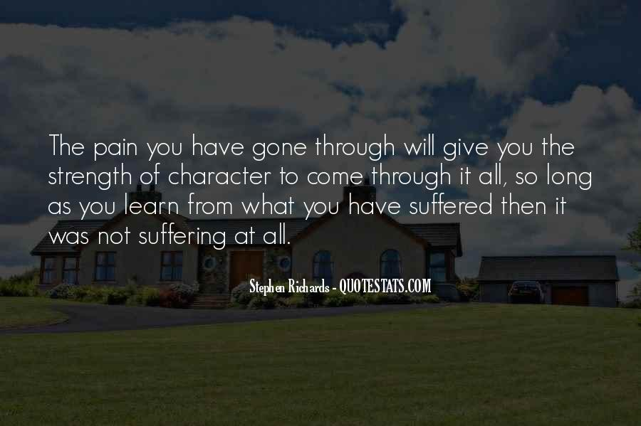 Quotes About Strength Pain #346614