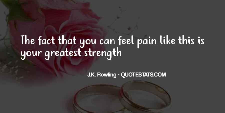 Quotes About Strength Pain #581036