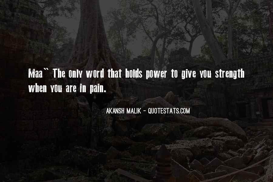 Quotes About Strength Pain #978768