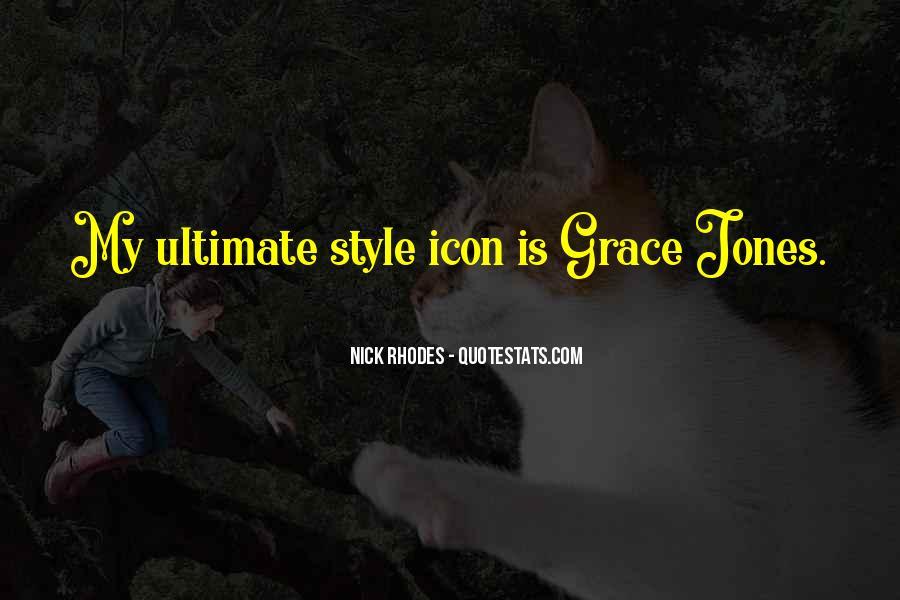 Quotes About Grace Jones #676328