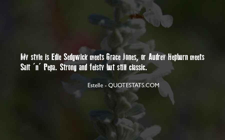 Quotes About Grace Jones #926537