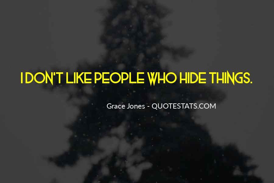 Quotes About Grace Jones #948070