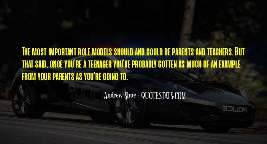 Teachers Role Models Quotes #1504891