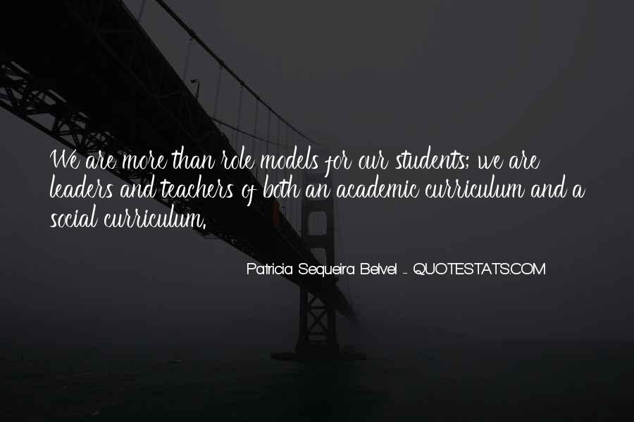 Teachers Role Models Quotes #1695136