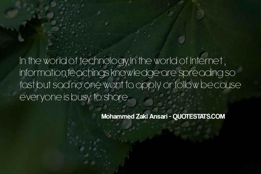 Technology Information Quotes #10139