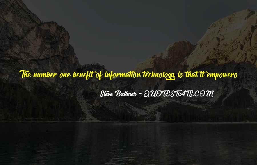 Technology Information Quotes #669604