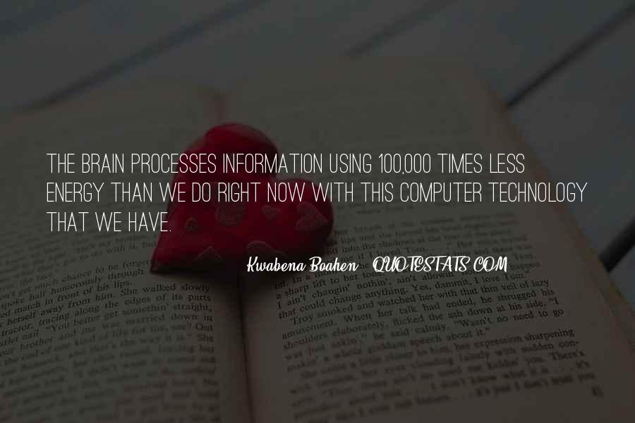 Technology Information Quotes #891777
