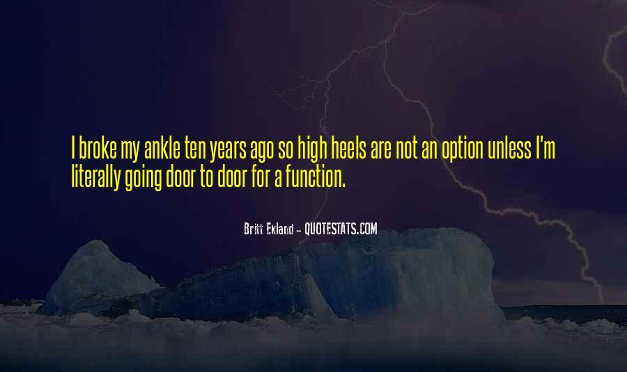 Ten Years Ago Quotes #100569