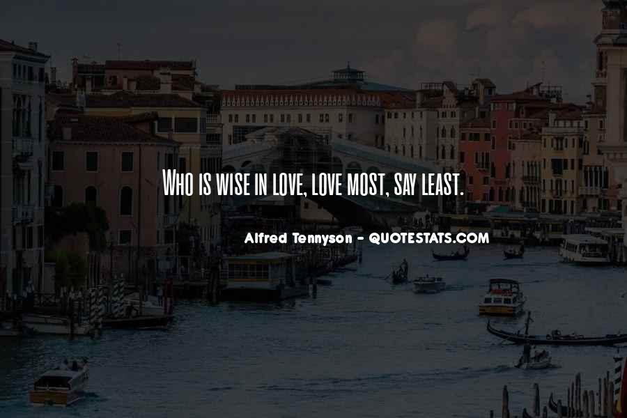 Tennyson Alfred Quotes #299974
