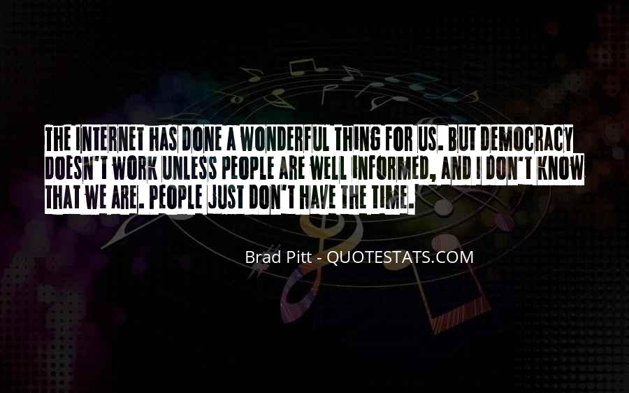 Quotes About Brad Pitt #125431