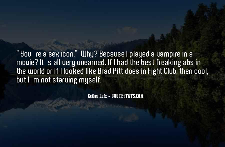 Quotes About Brad Pitt #325515