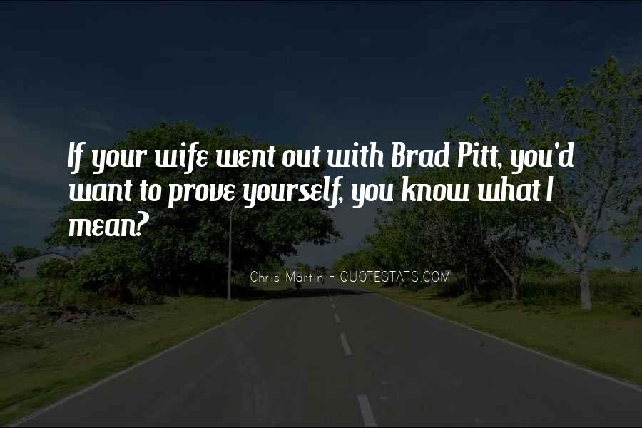 Quotes About Brad Pitt #86783