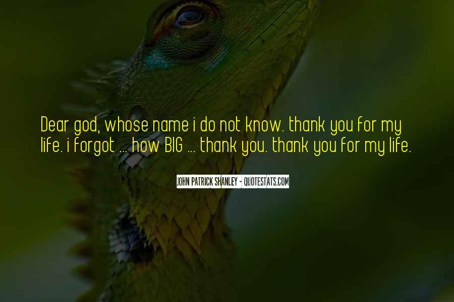 Thank God My Life Quotes #952560