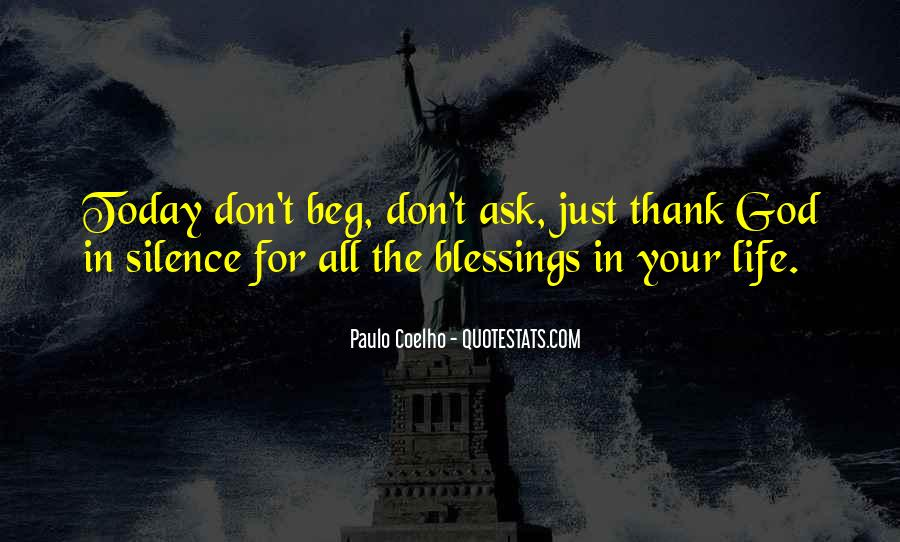 Thank You God For All The Blessings In My Life Quotes #1272870