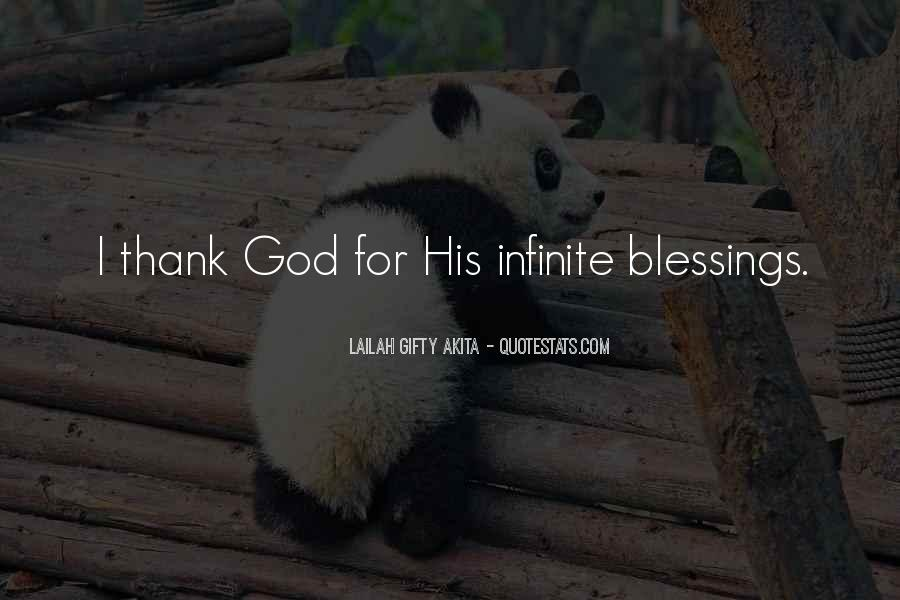 Thank You God For All The Blessings In My Life Quotes #857915