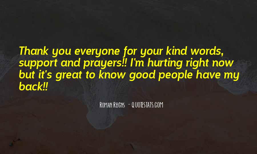 Thank You Kind Words Quotes #391485