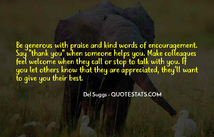 Thank You Kind Words Quotes #694447