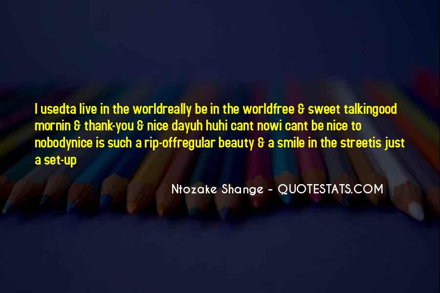 Thank You Smile Quotes #322912
