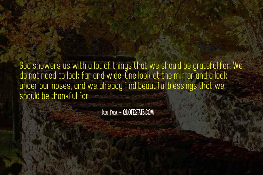 Thankful For Life's Blessings Quotes #217150