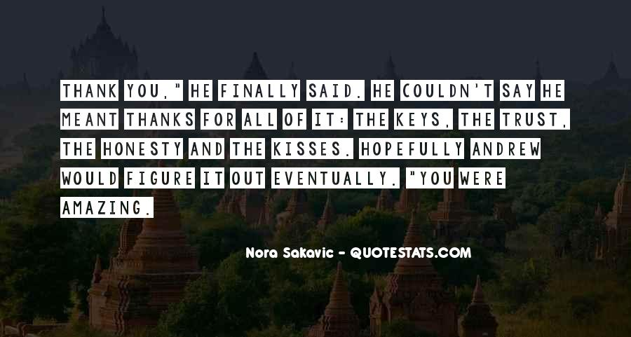 Thanks For All Quotes #419024