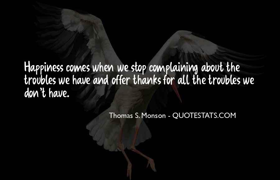 Thanks For All Quotes #568736