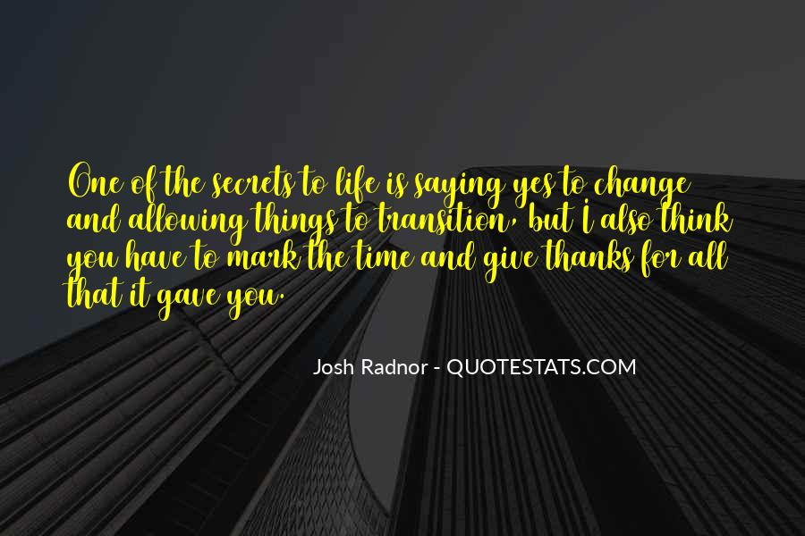 Thanks For All Quotes #725773