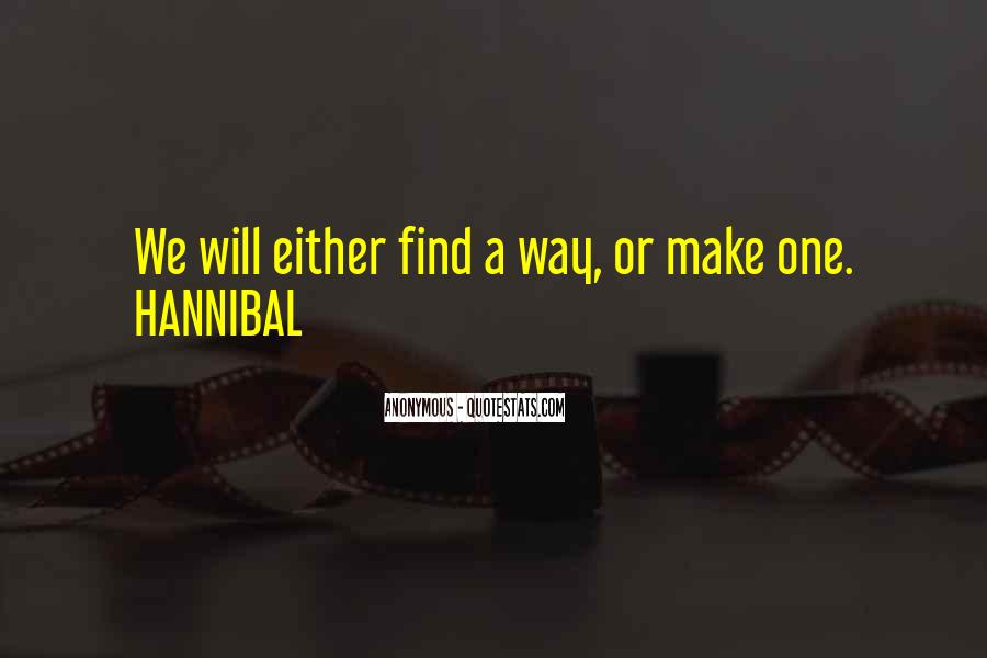 Quotes About Hannibal #279287