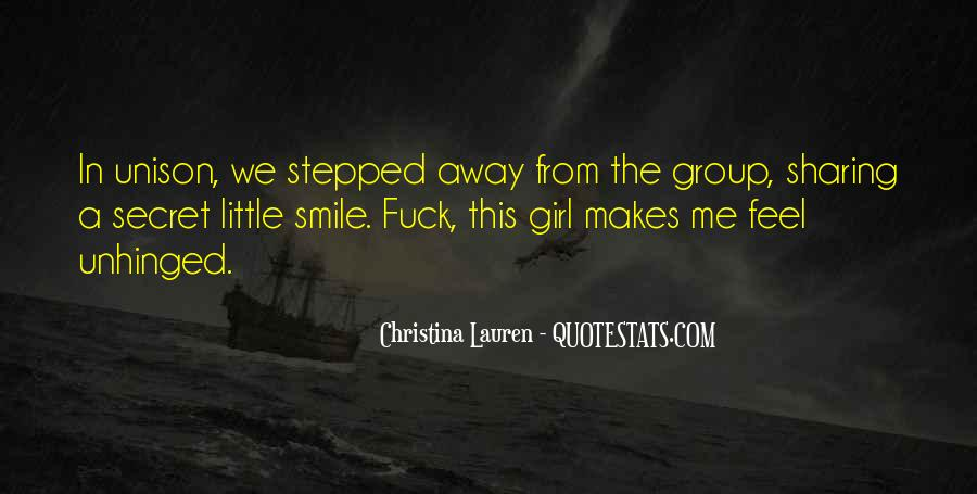 That One Girl That Makes You Smile Quotes #854021