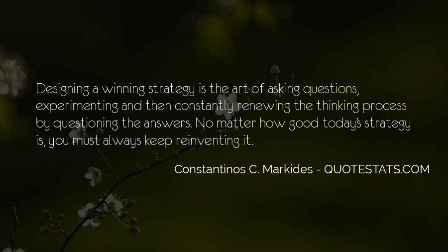 The Art Of Asking Questions Quotes #615516