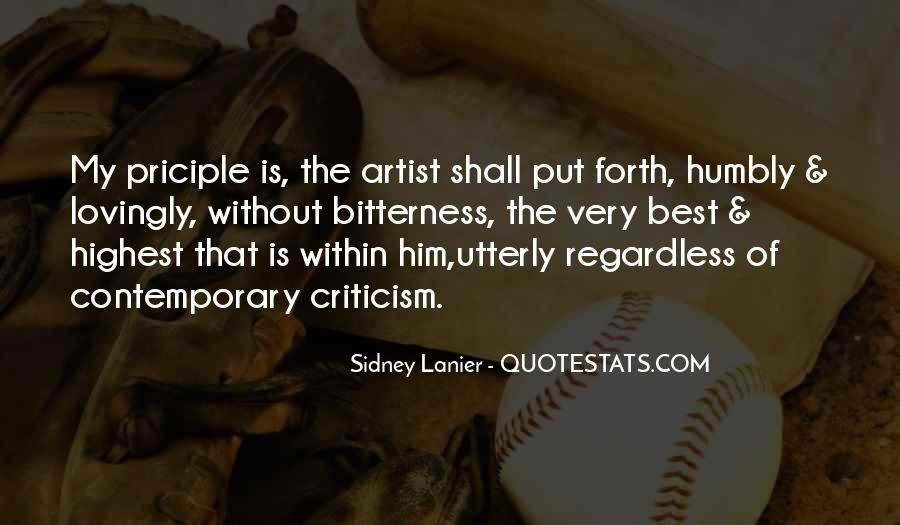The Best Artist Quotes #230765