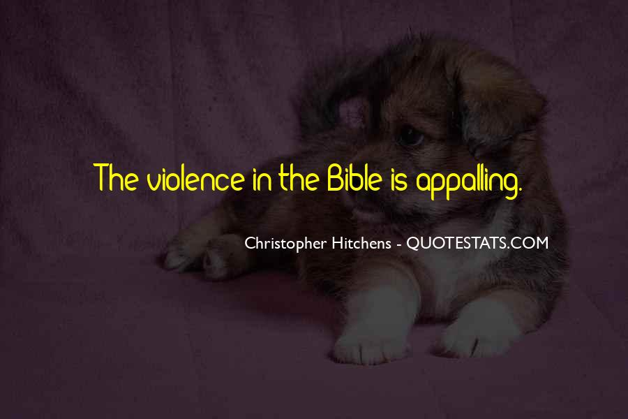 The Bible Violence Quotes #578899