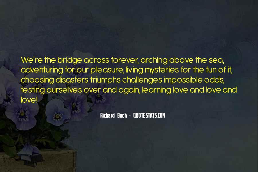 The Bridge Across Forever Quotes #893869