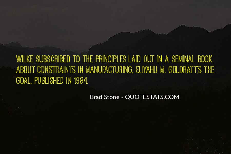 The Goal Goldratt Quotes #156689