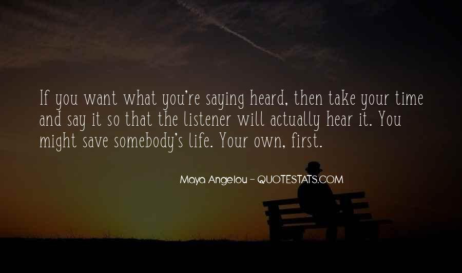 The Life You Save Quotes #1041049