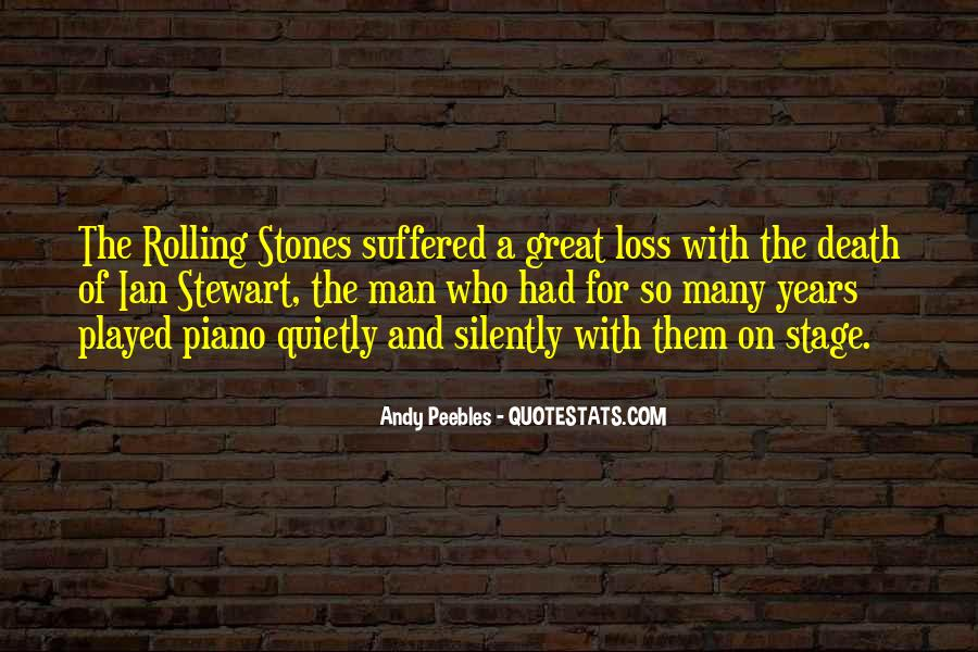 The Loss Of A Great Man Quotes #166931