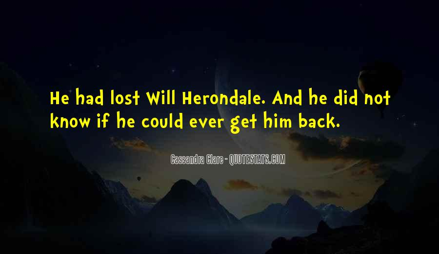 The Lost Herondale Quotes #377432