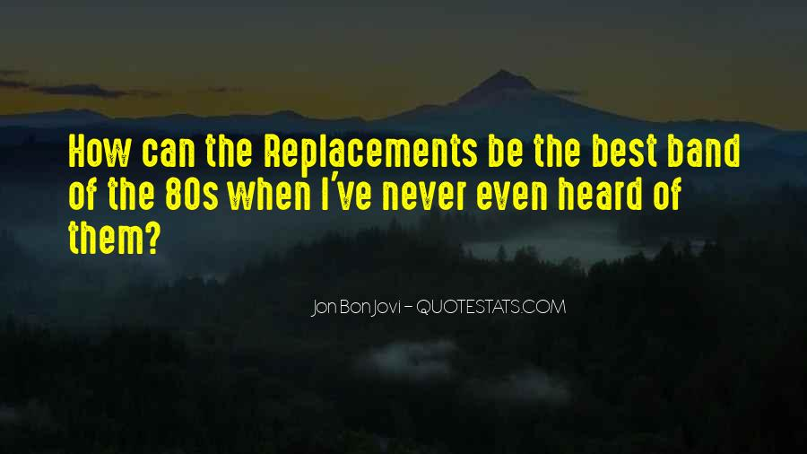 The Replacements Band Quotes #162036