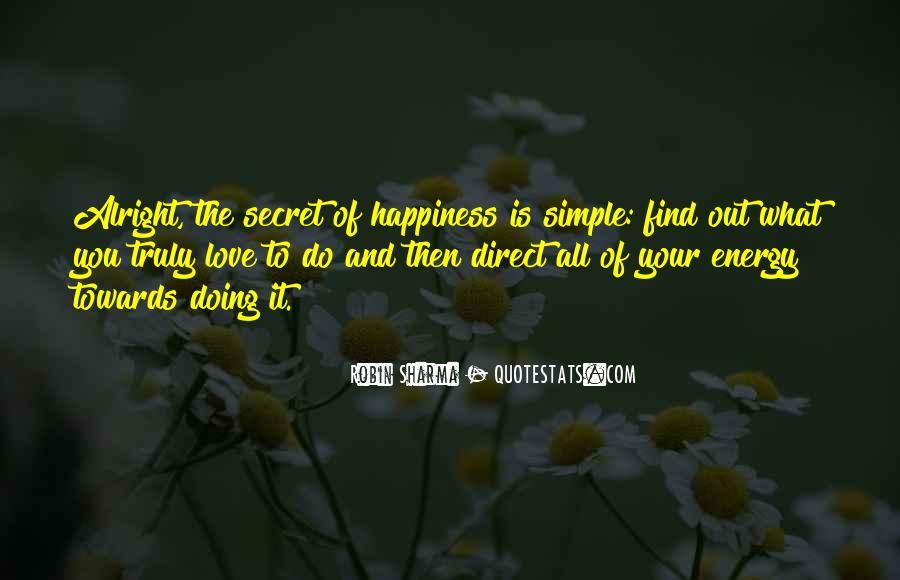 The Secret Love Quotes #181165