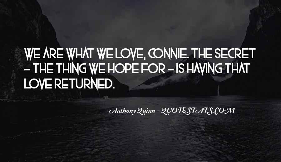 The Secret Love Quotes #209948