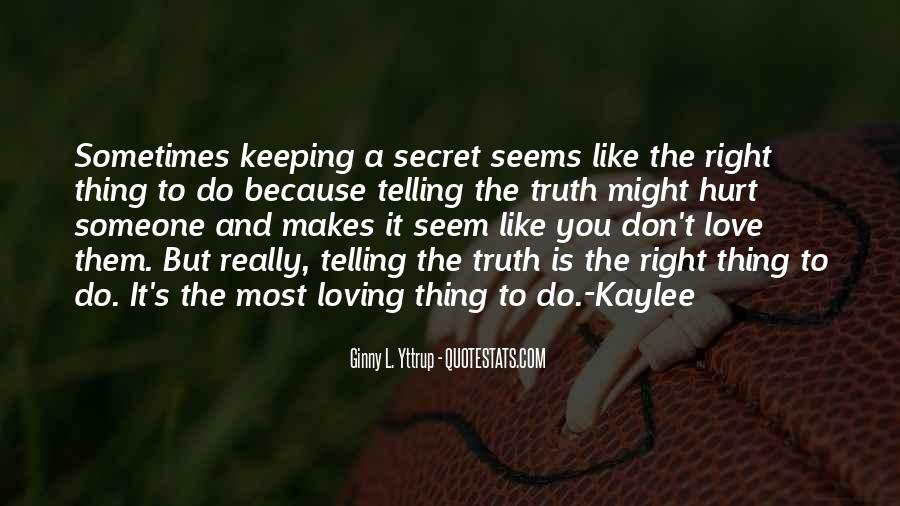 The Secret Love Quotes #304652